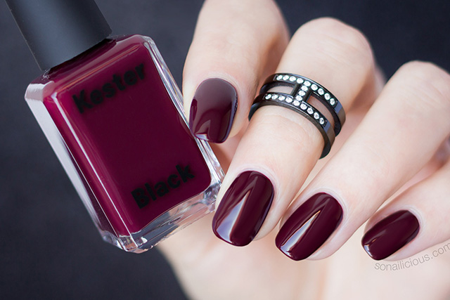 Kester Black Narcissist dark red nail polish