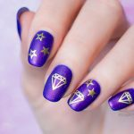Purple Nails With Diamonds for a Night Out. Plus, How-To!