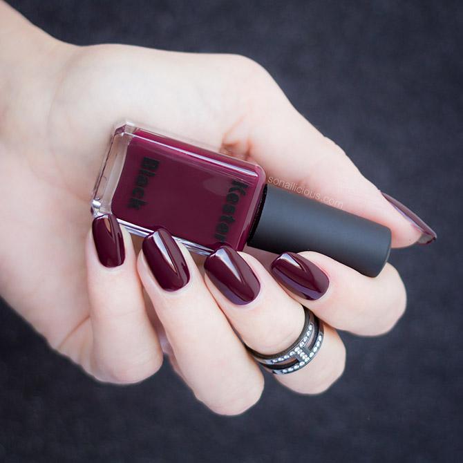 wine red nail polish Kester Black Narcissist