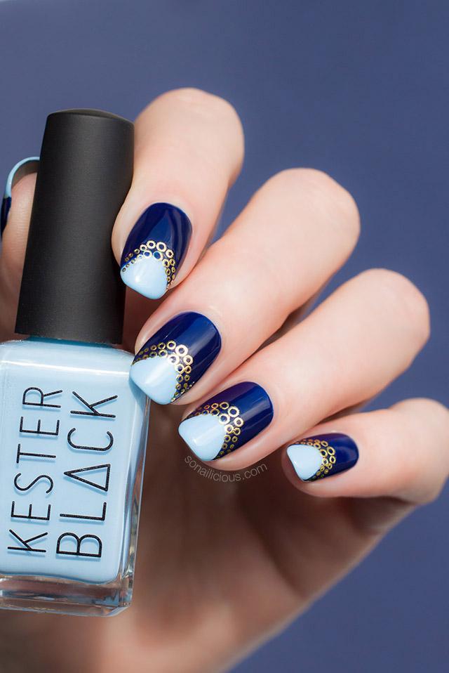 blue nail art kester black cumulus
