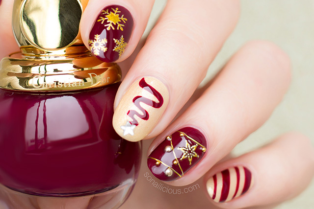 Ultra Festive Christmas Nail Design. Plus, How-To ...