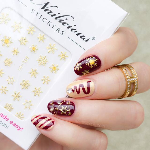 Ultra Festive Christmas Nail Design Plus How To Sonailicious