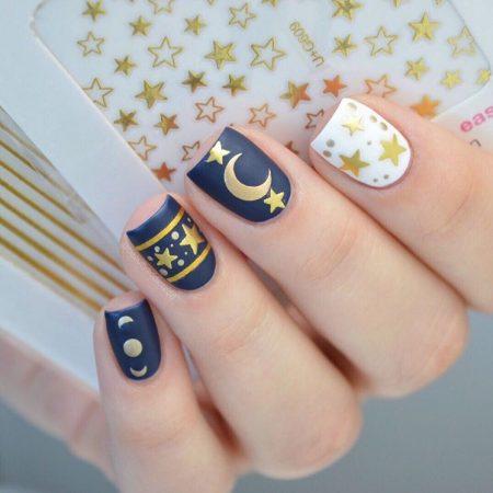 New years nail art