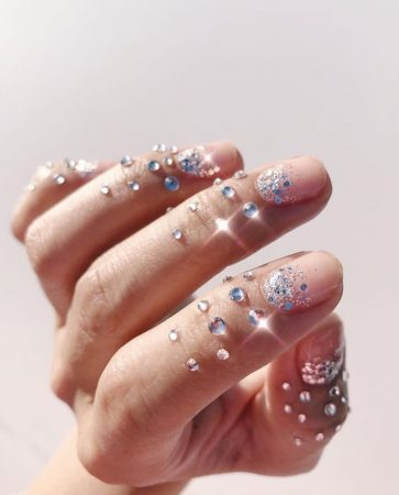 Sparkling New Years nail design