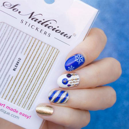 glitter stripes nail stickers, 1