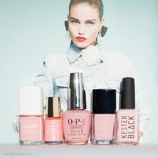 Millennial Pink best 5 nail colours
