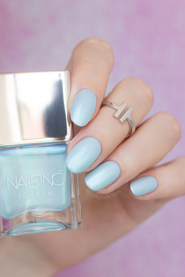 nails inc Mermaid Parade mint nails