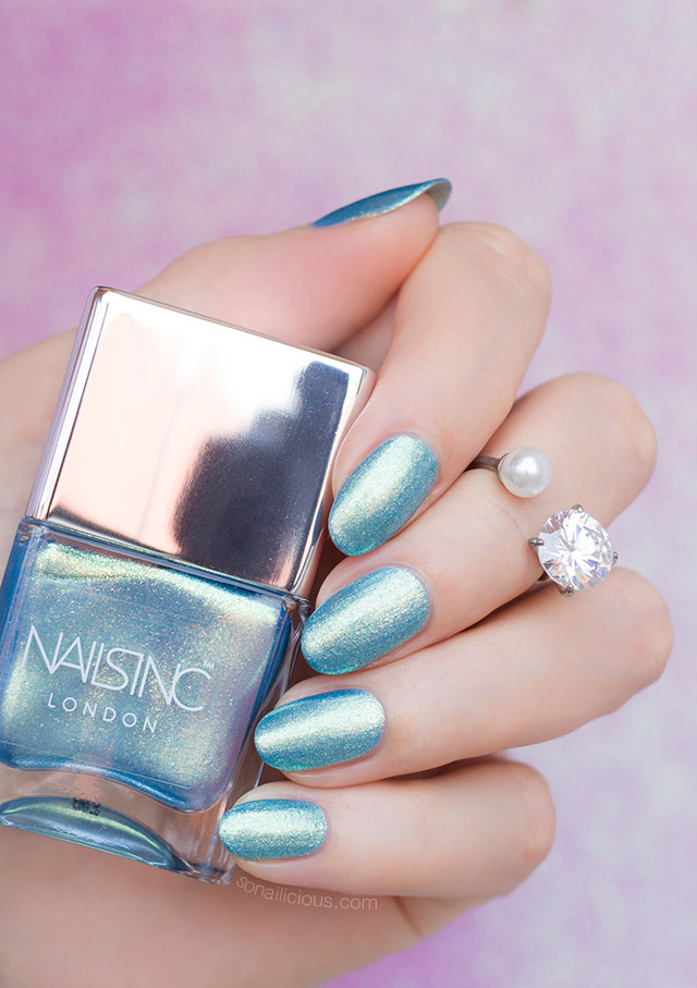 nails inc Ocean Ever After nail polish review