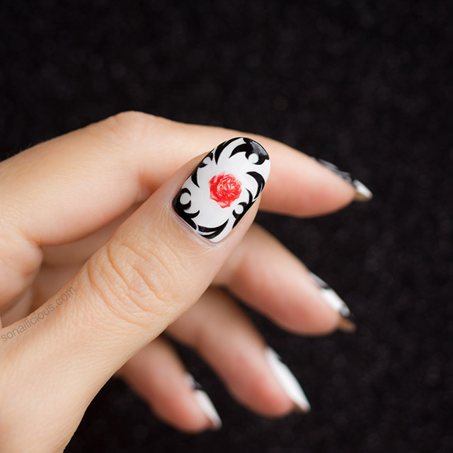 red hot chili peppers nail art
