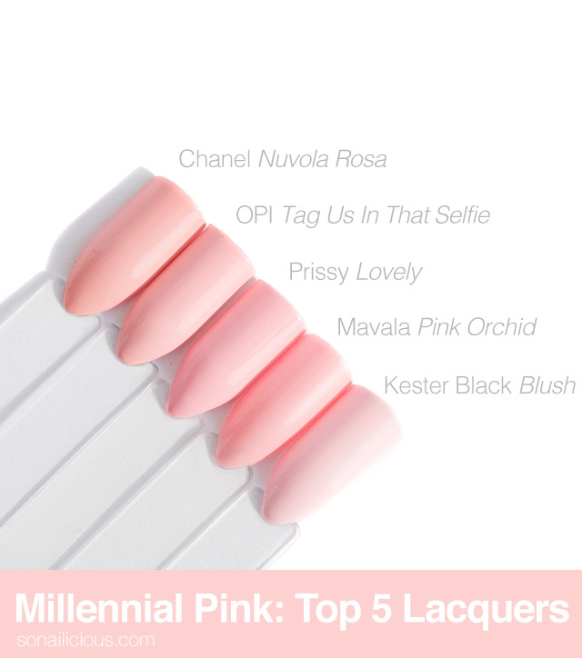 top 5 Millennial Pink nail polishes