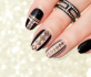 Black and Gold Geo Nails. Plus, GIVEAWAY!
