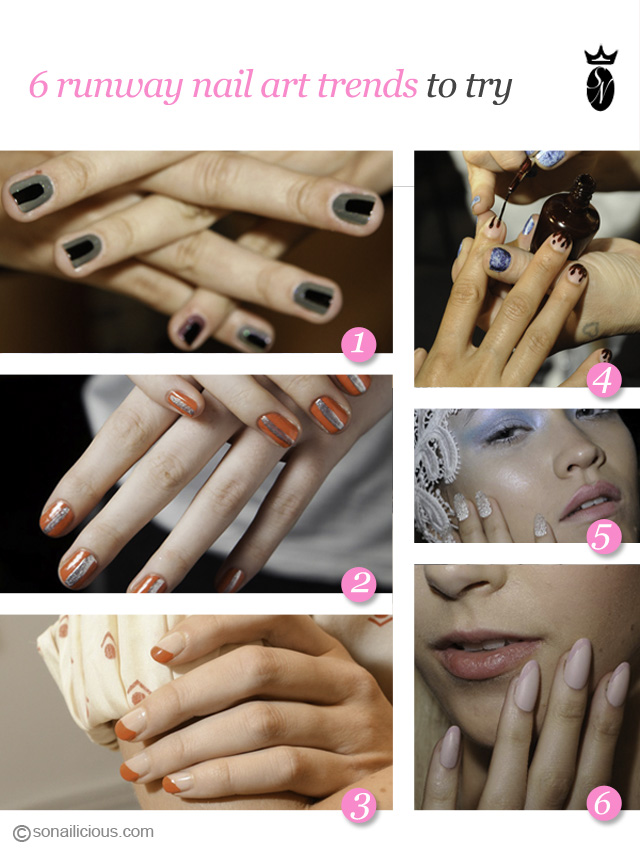 6 nail art trends, new york fashion week