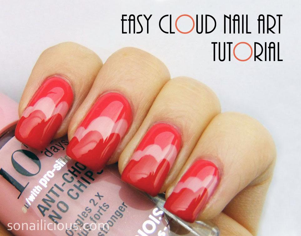 Easy Cloud Nail Art