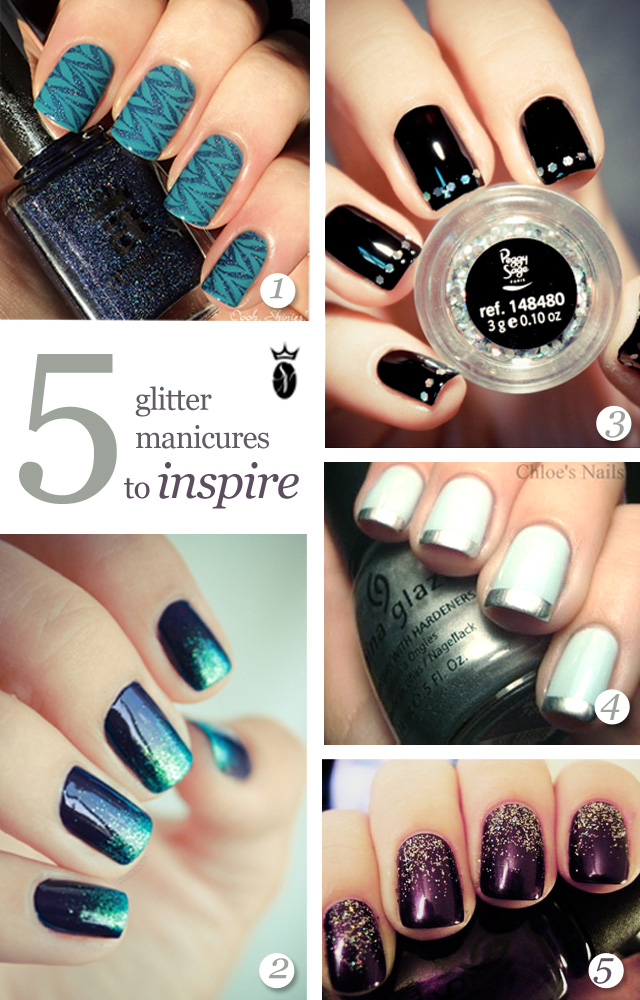 5 glitter manicures to inspire