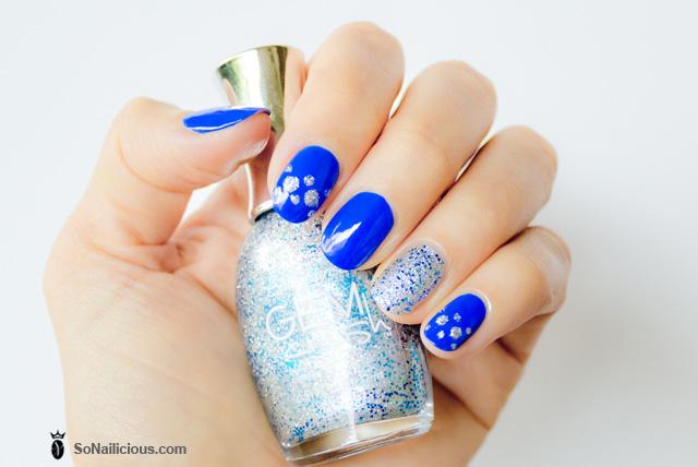 nail art, sally hansen gem crush showgirl chic glitter