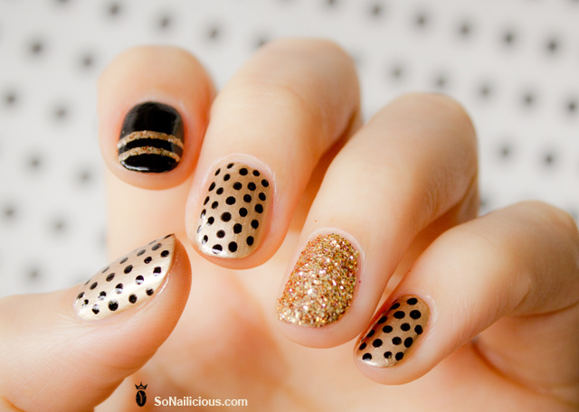 polka dot nail art design