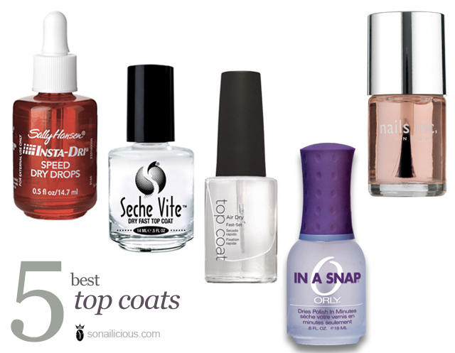 best top coat nail polishes