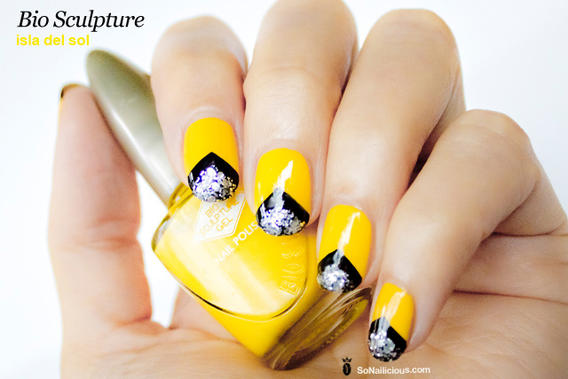 bio sculpture nail design