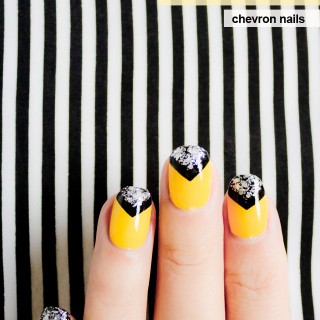 chevron nails don't mess with me
