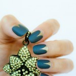 Matte Top Coat over Gothic Moon nails and some thoughts about it