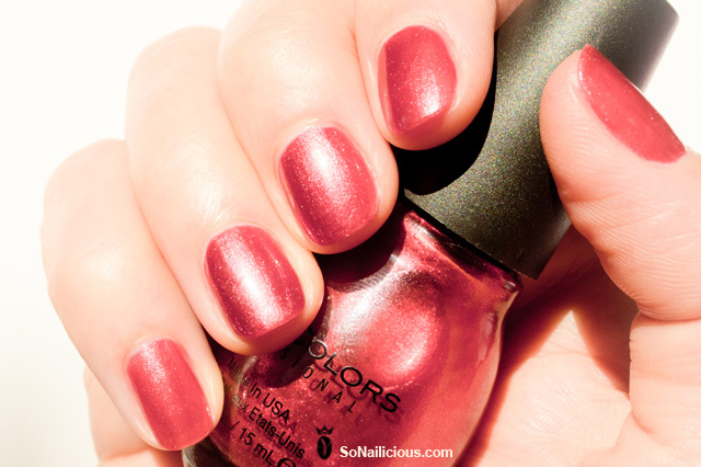 sinful colors polish, red under 18