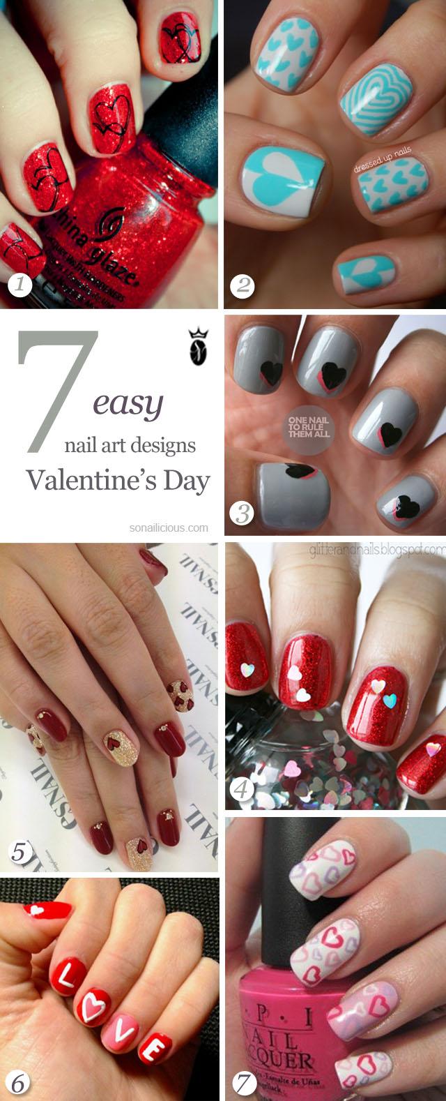 Valentine\u0027s Day nails 7 easy nail designs