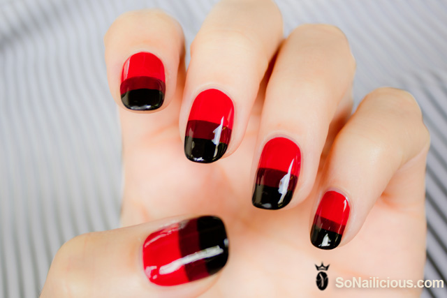 RED nails, red nail art 1