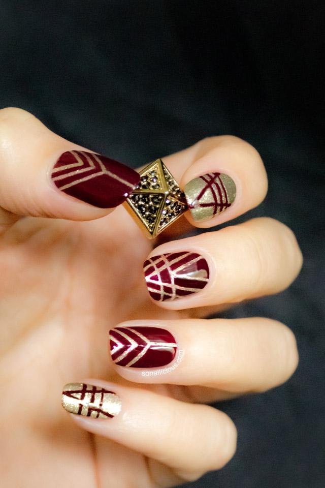 art deco nails, revlon