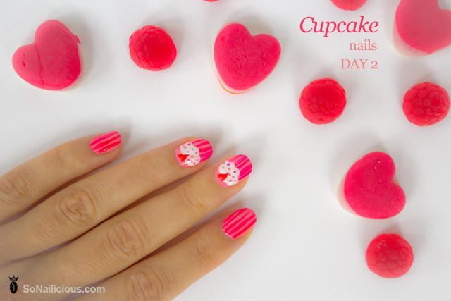 cute nails, cupcake nails