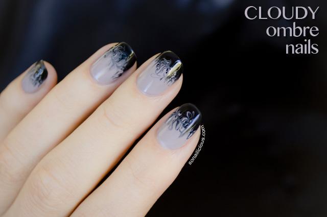 drag marbling nail art