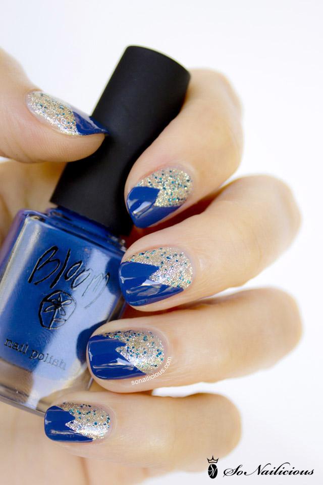 emily green bloom navy nail polish