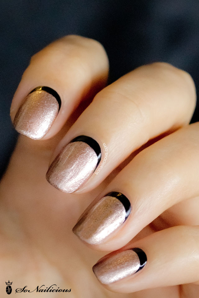 gold and black raffian nails