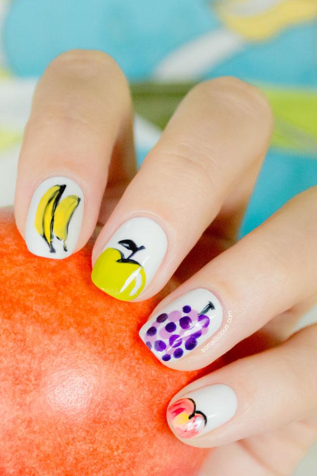 green apple nails, summer nails