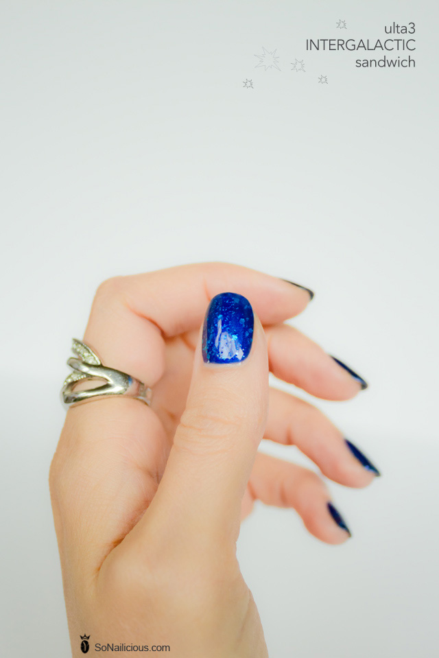 jelly sandwich nails, ulta 3, blue nails