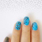 28 days of SoNailicious Nails – Day 5 – Snow Leopard Print Nail Art