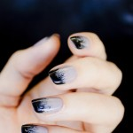 28 days of SoNailicious Nails – Day 19 – Cloudy ombre nails