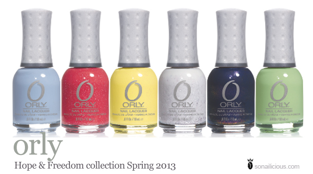 orly hope and freedom collection spring 2013