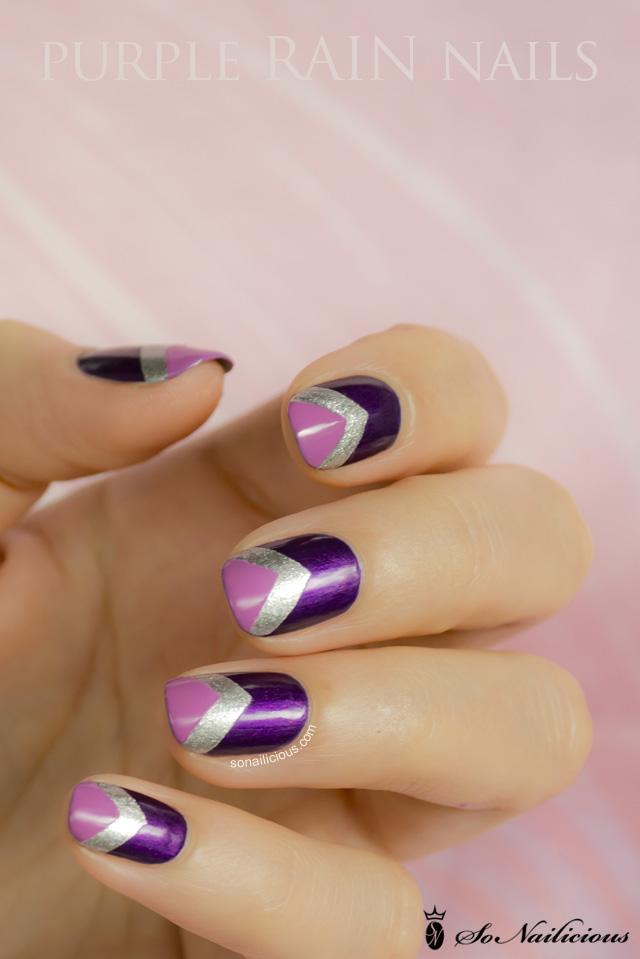 Purple Rain Chevron Nails 28 Days Of Sonailicious Nails Day 21