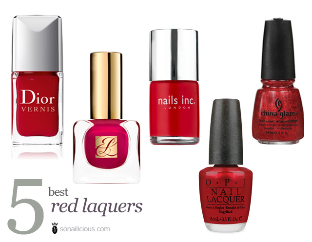 red nail polish, the best, dior red roaylty, china glaze, opi, nailsinc st james