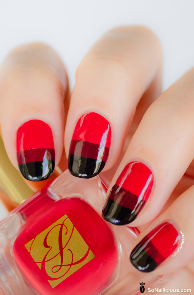 red nails, estee lauder pure red