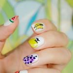28 days of SoNailicious Nails – Day 24 – Tutti Frutti Summer Nails