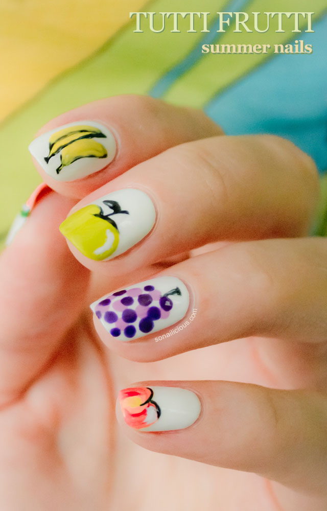 tutti frutti summer nails
