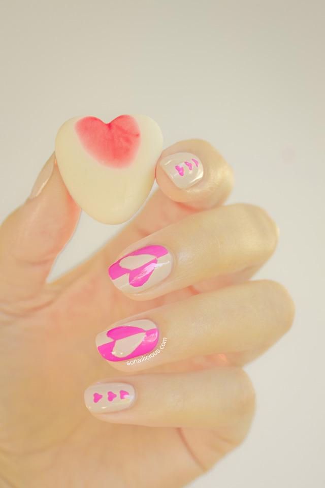 valentines day nail art, sonailicious nails 1