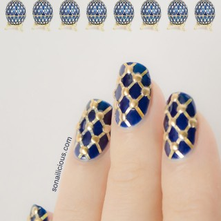 Faberge easter egg nails 1