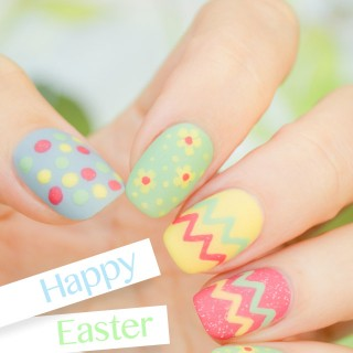 easter nails, cute easter nails
