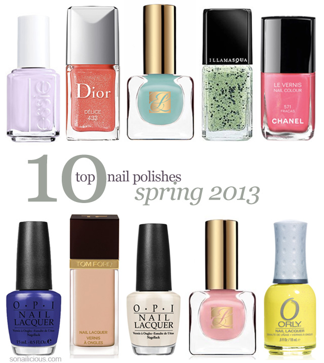 spring nails, best 10 spring nail polishes