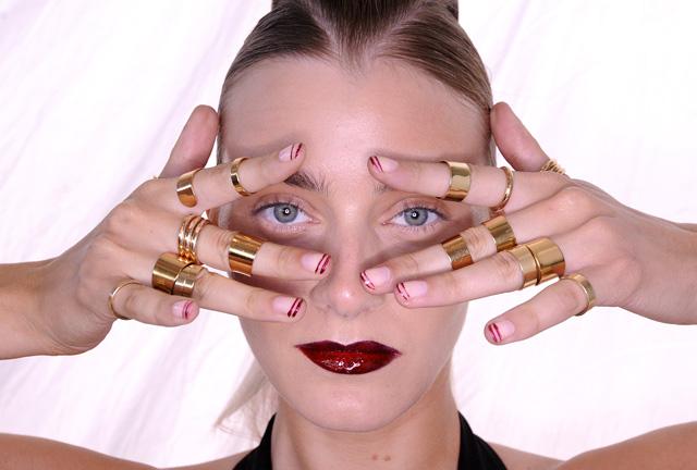 Lisa Ho MBFWA 2013 makeup nails