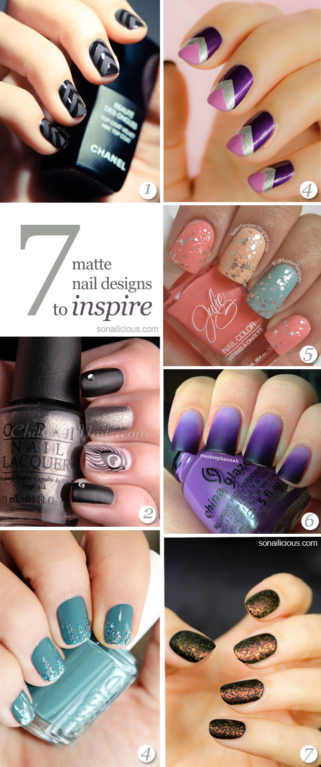 matte nail, best matte nails designs