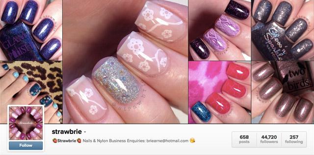 strawbrie nails instagram