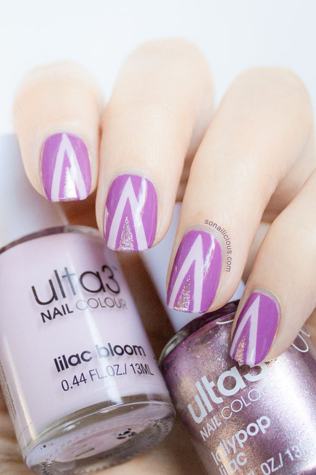 ulta3 Lilac Bloom, Ulta3 Lollypop Lilac nail polish.